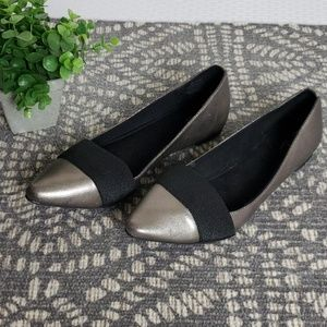Simply Vera Black & Silver Flats